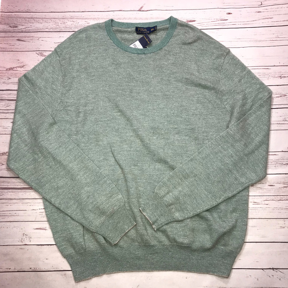 6818fe17f2cd Polo Ralph Lauren Birdseye Cashmere Green Sweater